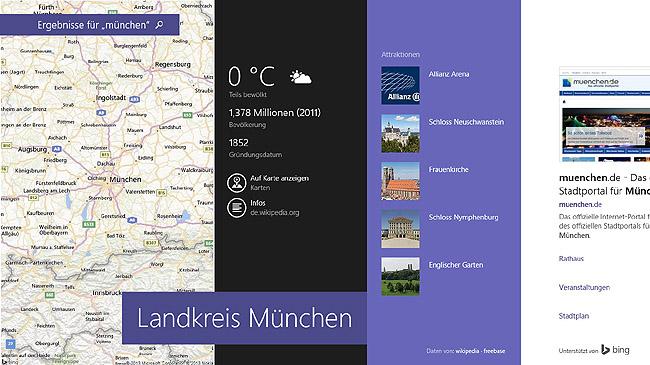Bing Smart Search Maps München